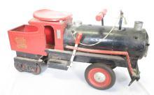 Keystone RR 6400 Pressed Steel Railroad Train Engine Child's Riding Toy. 25.75