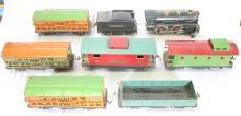 (8) Piece Pre War Lionel Standard Train Set. Locomotive No. 384, No. 384 T Coal Car