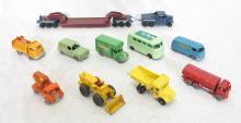 (10) Matchbox Moko Lesney Toy Cars. Major Pack No. 6 Pickfords Crane Transport, Coca-Cola