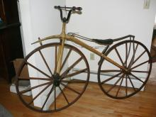 Wooden Wheeled Boneshaker Velocipede Bicycle