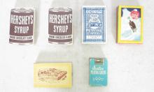(6) Vintage Packs of Playing Cards. Hershey's Syrup, Coca-Cola Welcome Friend, Rad Bridge