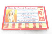 Glass Jar Peanut Assortment Punch Game. 7.75