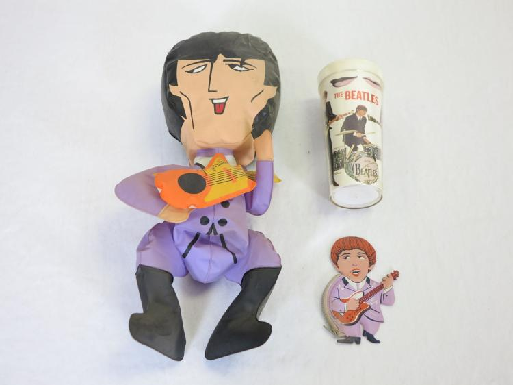 The Beatles George Harrison Blow Up Doll Change Purse Amp Bea