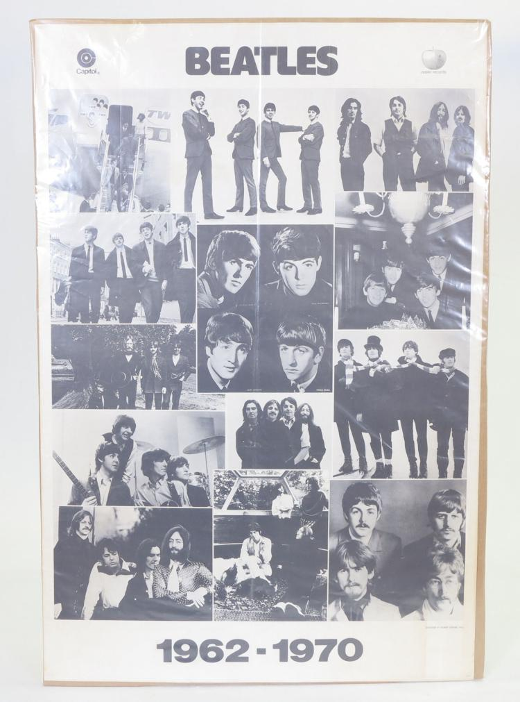 "The Beatles 1962-1970 Poster By Robert Zenter 1976, 24"" x 36"