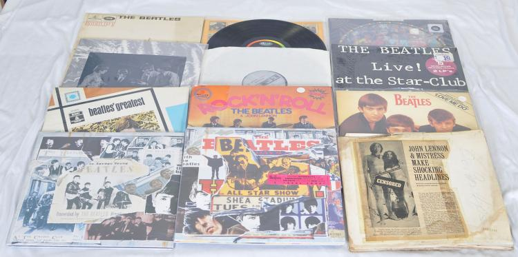12) The Beatles LP Vinyl Records incl  The Beatles Anthology