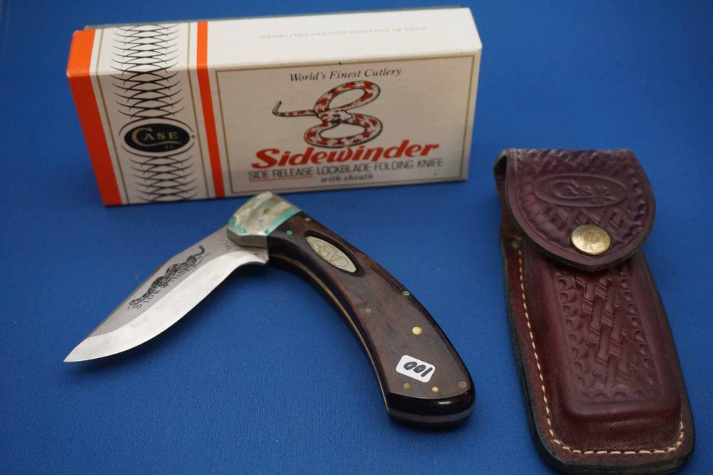 Case Sidewinder Pocket Knife Leather Case, Original Box