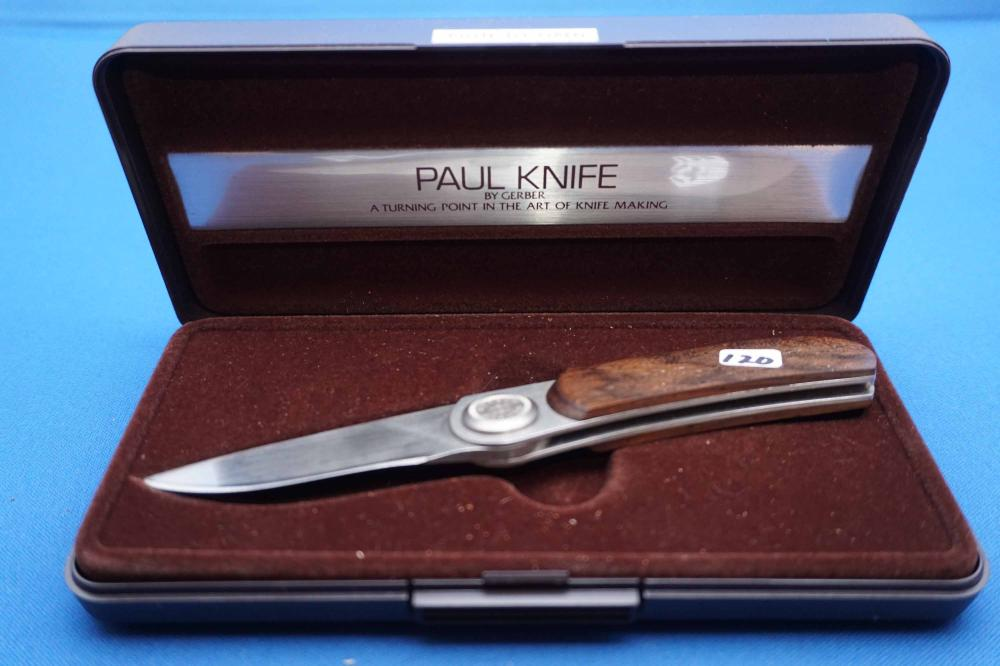 Gerber Paul Knife Model 2PW With Case