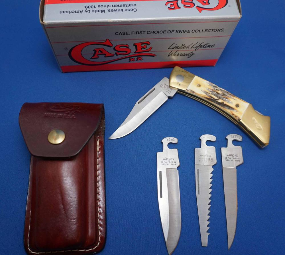 Case Lock XX Changer Pocket Knife, 00152, New in Box with Leather Case, Mint