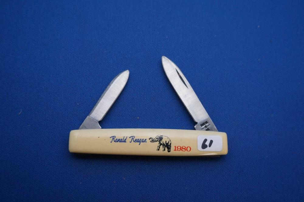 Case 1980 Ronald Reagan Pocket Knife, 278, With Elephant