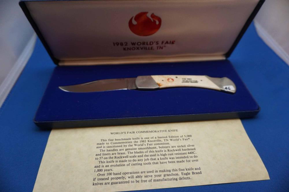 Parker Brothers 1982 Knoxville TN. Pocket Knife With Case 4069