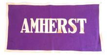 Amherst College Felt Rectangular Banner, Stitched Letters