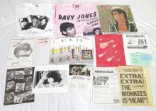 Collection of The Monkees Davy Jones Autographs and Other Memorabilia