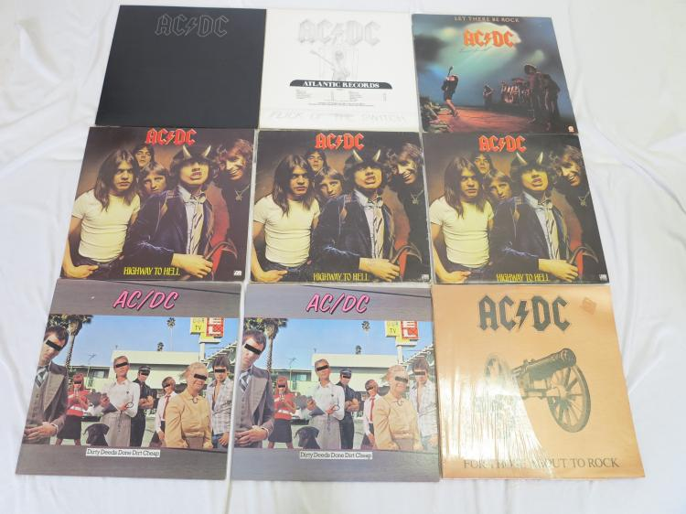 14 ac dc kiss classic rock and roll lp vinyl records inc for Classic house records