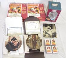 Group of Gone with The Wind Collectibles incl. Anniversary Clock