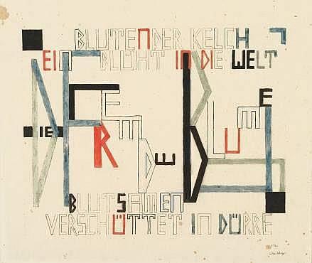 Lothar Schreyer Dresden 1886 - 1966 Hamburg Die