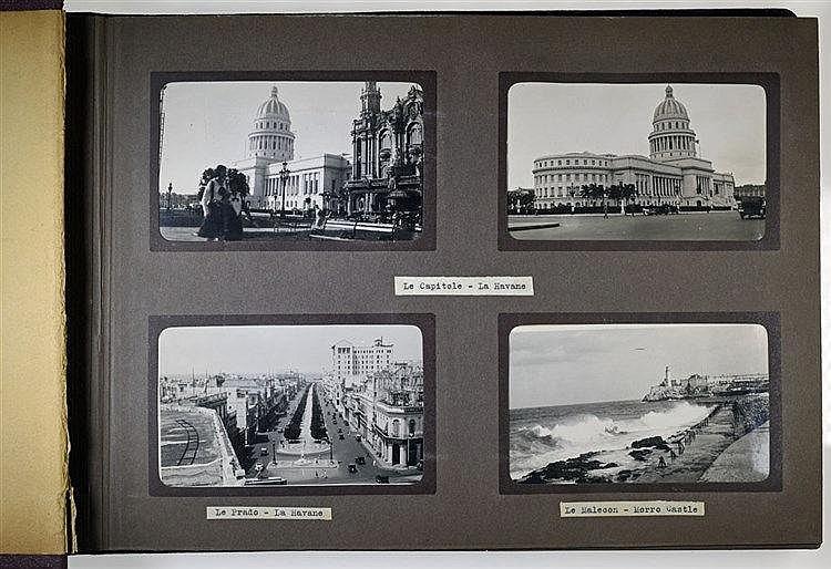 Album de photographies contenant 98 vues de Cuba, du Venezuela, du Panama,