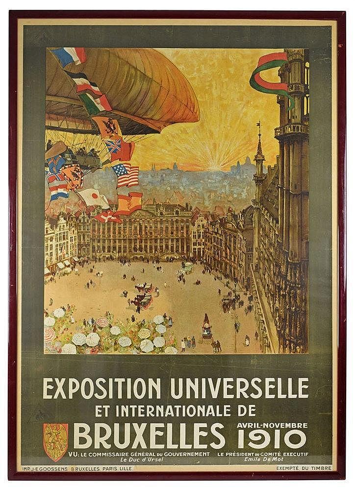 Exposition Universelle de Bruxelles 1910 affiche originale par Henri Cass