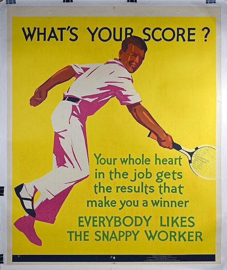 Affiche couleur entoilée 1932 112 x 91cm