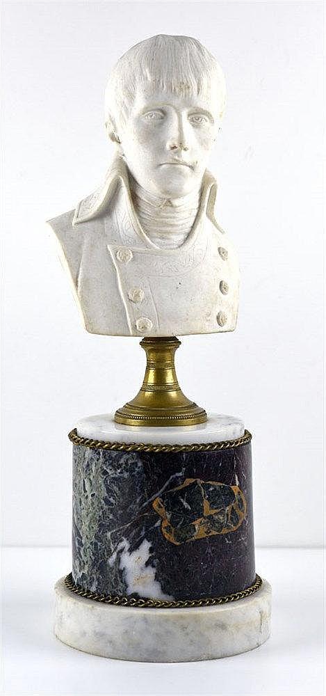 Biscuit sur socle en marbre. XIXe H:36cm