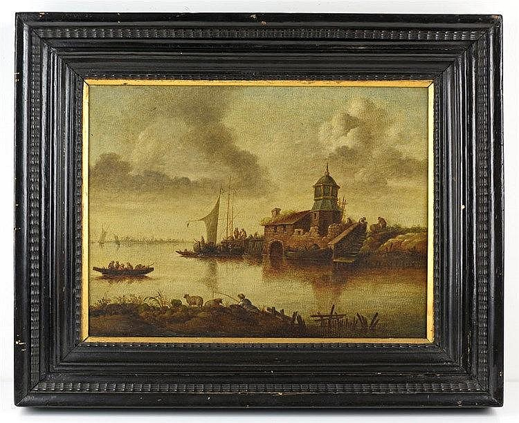 Paysage. Huile sur toile 43 x 54cm