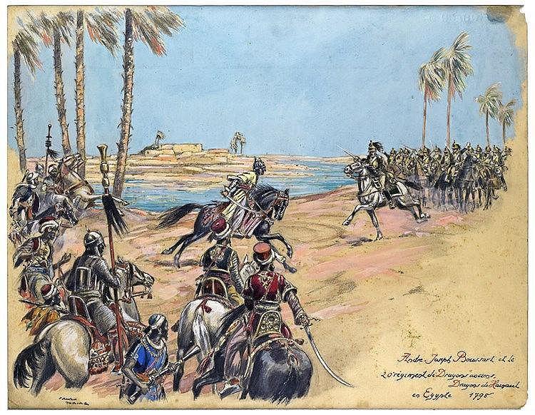 André-Joseph Boussart et le 20e régiment de Dragons anciens