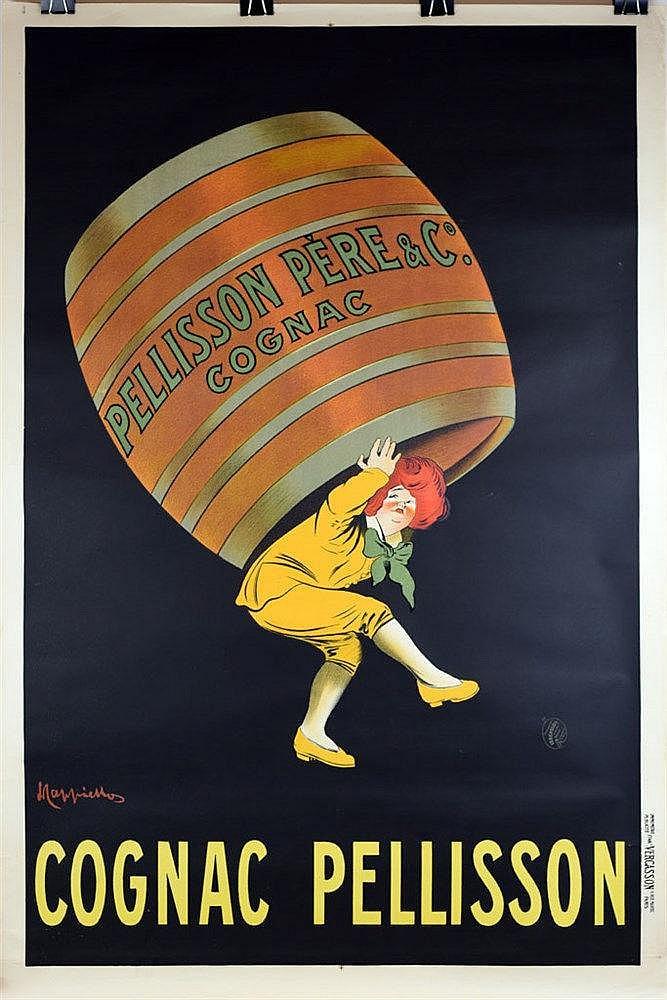 Cognac Pellisson affiche couleur 120 x 80cm