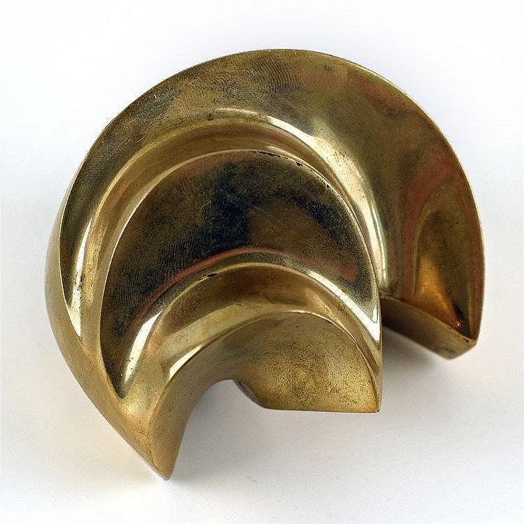 Petite sculpture abstraite en bronze H:9cm