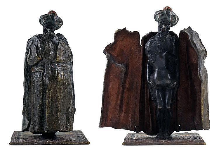 Vienne. Bronze polychromé H:12cm