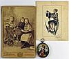 Une médaille religieuse peinte sur nacre avec entourage en argent et poinço