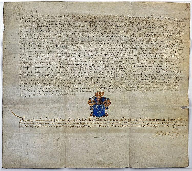 Copie authentique d'une attestation de noblesse délivrée à Bruxelles en sep