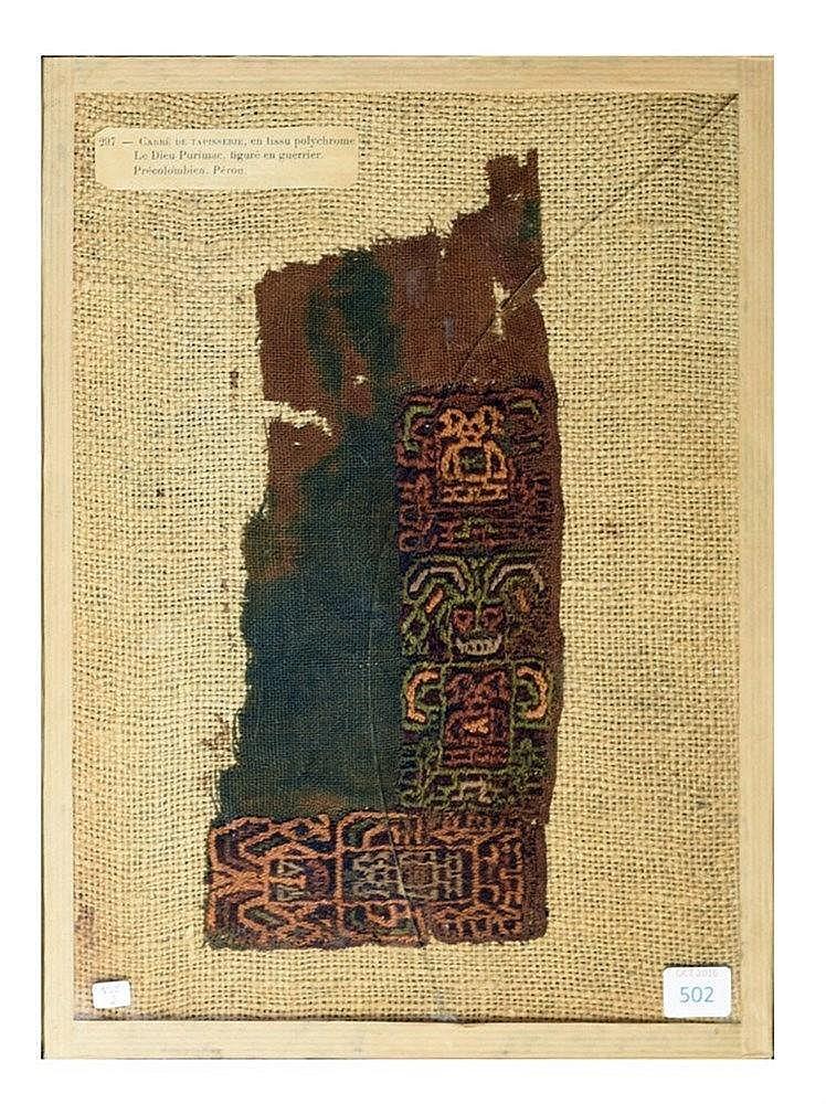 Tissu polychrome. Pérou. 26 x 12 cm