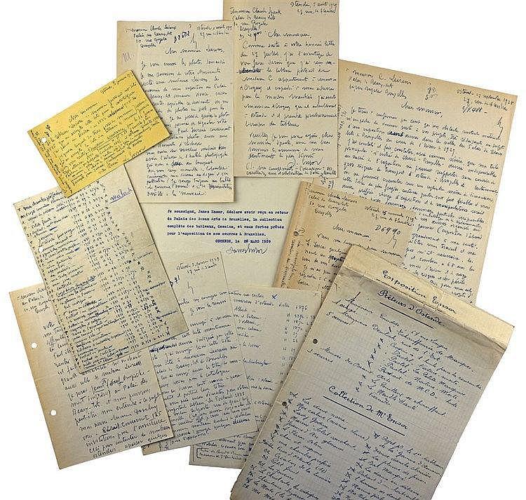 Magnifique correspondance manuscrite (huit lettres) et typographiée (une le