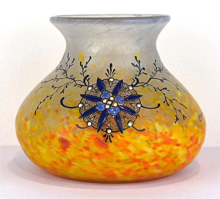 Vase vide-poche boule à col évasé