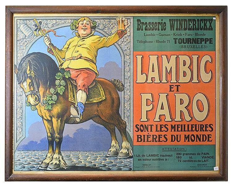 Affiche publicitaire en couleurs. 80 x 100 cm