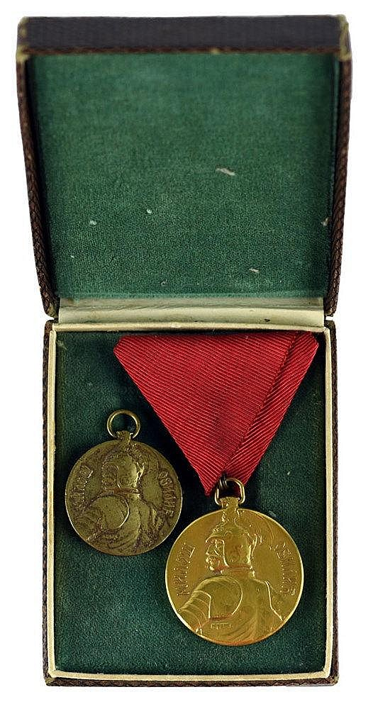 Medal for Courage – Milos Obilic, two models (diam 29mm and 35mm)