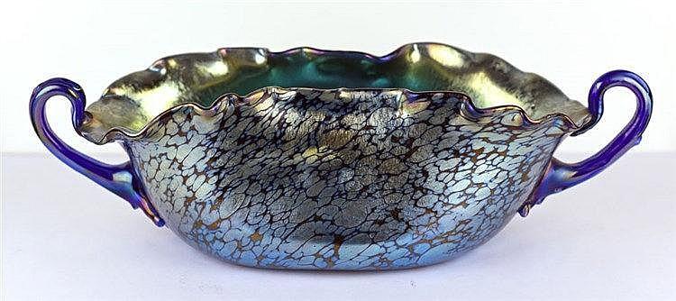 Coupe en verre irisé 10 x 31 x 12cm