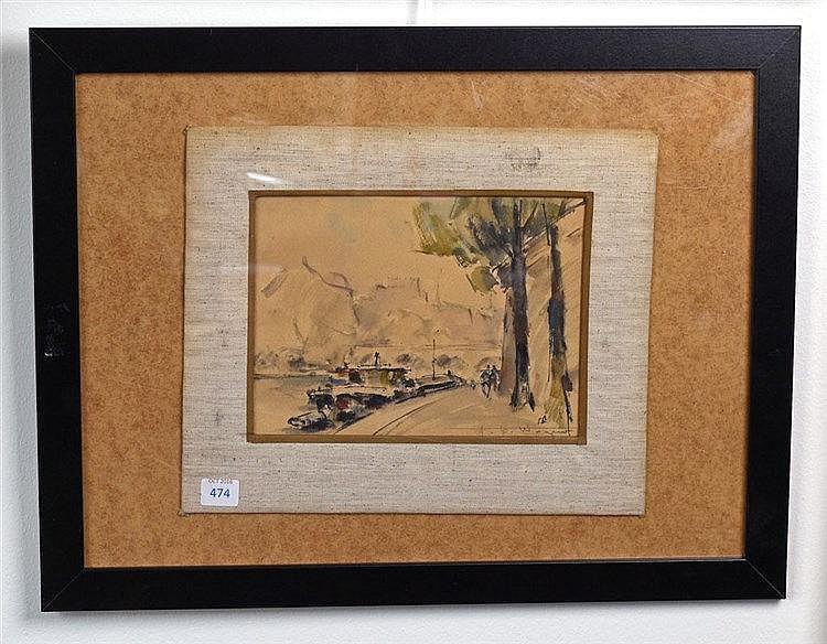 Aquarelle, signé en bas à droite, 22 cm x 27 cm
