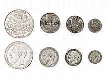 CONGO, Free state, Leopold II (1885-1908), 5 Francs, 1894, 24.90g, 2 Francs, 1894, 9.83g, Franc, 1894, 4.94g, 50 Centimes, 1894