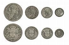 CONGO, Free state, Leopold II (1885-1908), 5 Francs, 1896/4, 24.84g, 2 Francs, 1896, 9.90g, Franc, 1896, 4.92g, 50 Centimes, 1896