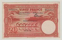 CONGO BELGE, Banque du Congo Belge, 20 Francs