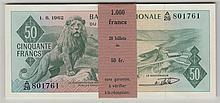 CONGO (RÉPUBLIQUE DÉMOCRATIQUE), Banque nationale du Congo, 50 Francs (20)  250/280€