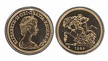 GREAT BRITAIN, Elizabeth II (1952- ), Brilliant Uncirculated Five Pounds, 1984