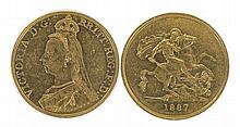 GREAT BRITAIN, Victoria (1837-1901), 5 Pounds