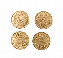 Tunisia, Ali Bey (1882-1902), 20 Francs (2)