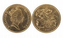 GREAT BRITAIN, Elizabeth II (1952- ), Brilliant Uncirculated Five Pounds, 1985