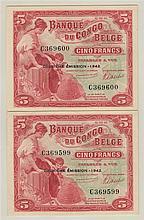 BELGIAN CONGO, Banque du Congo Belge, 5 Francs (2)