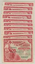 CONGO BELGE, Banque du Congo Belge, 5 Francs (10)