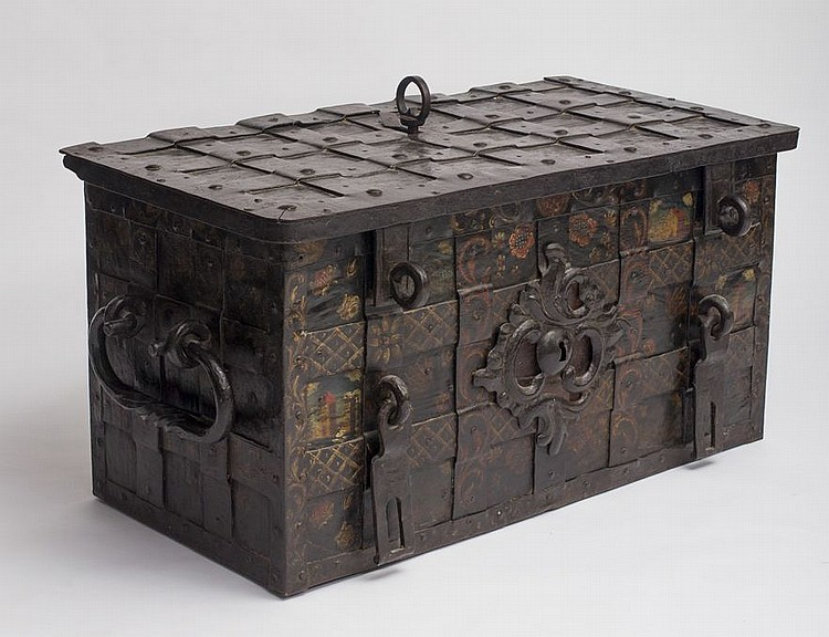 how paint kitchen cabinets nuremberg iron chest germany 17th c 16755