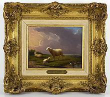 Franz Van Severdonck (1809-1889), Landscape with sheep