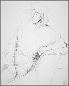 Myfanwy Spencer Pavelic 1916 - 2007 Canadian graphite on paper Woman